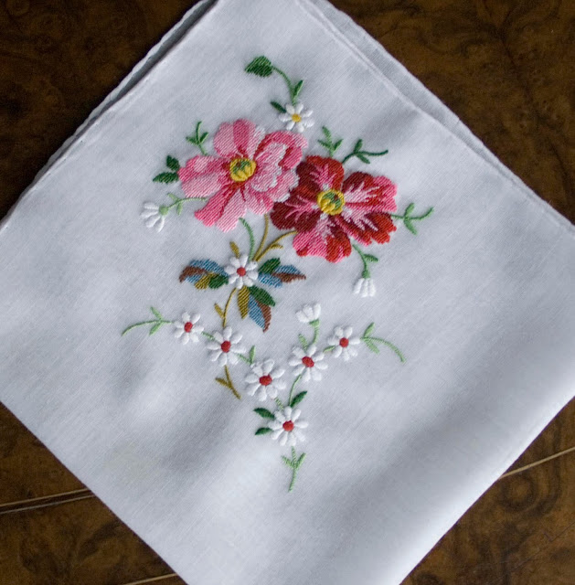 Antique Style Hanky Primer #3 Embroidered And Petit Point Hankies