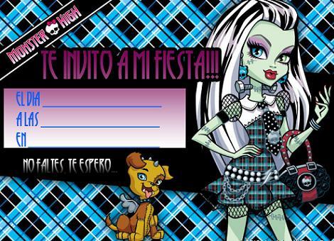 La Super Mamy: Invitaciones Monster High para cumples