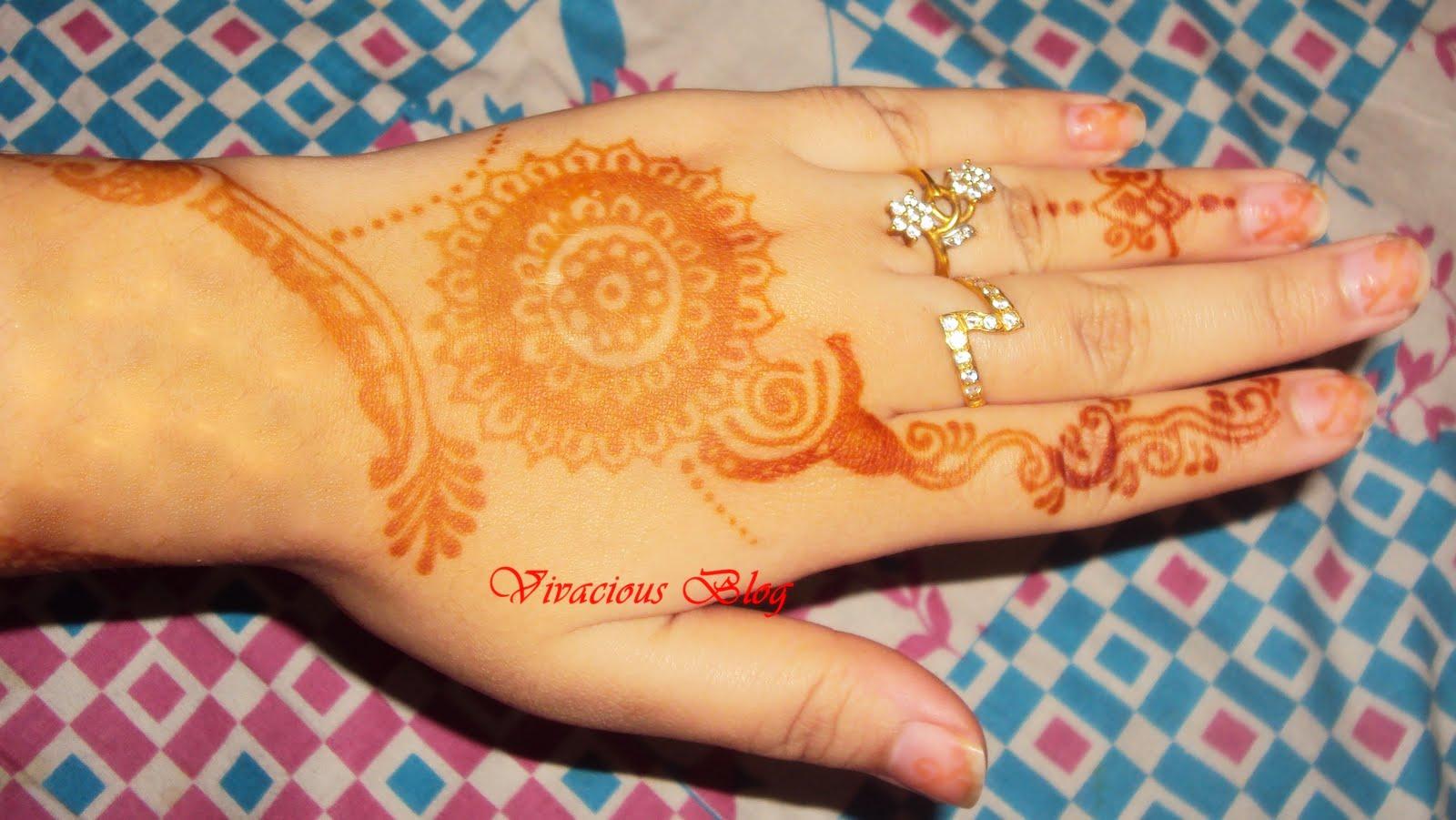 Mehndi Designs For Rakhi : Vivacious mehndi design for raksha bandhan