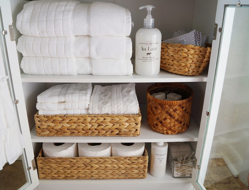 Small-Bathroom Linen Cabinet title=