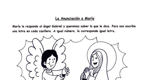 El Rincón de las Melli: JUEGO: La anunciación a María