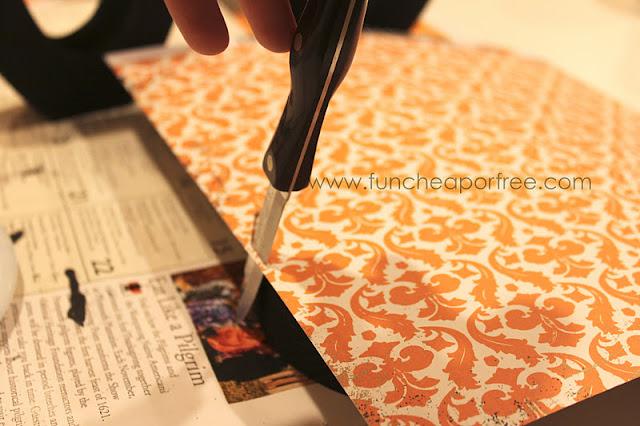 Knife cutting scrapbook paper, from Fun Cheap or Free