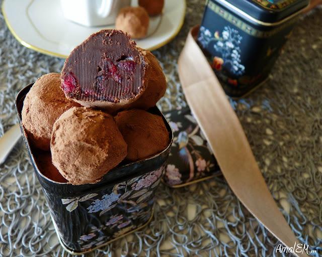 Ça titille les papilles !, Chocolat, Truffe, Canneberge, Airelle, Bouchées