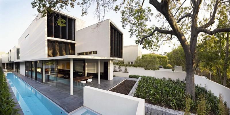 Hogares frescos elegante residencia basada en un for Casa moderno kl
