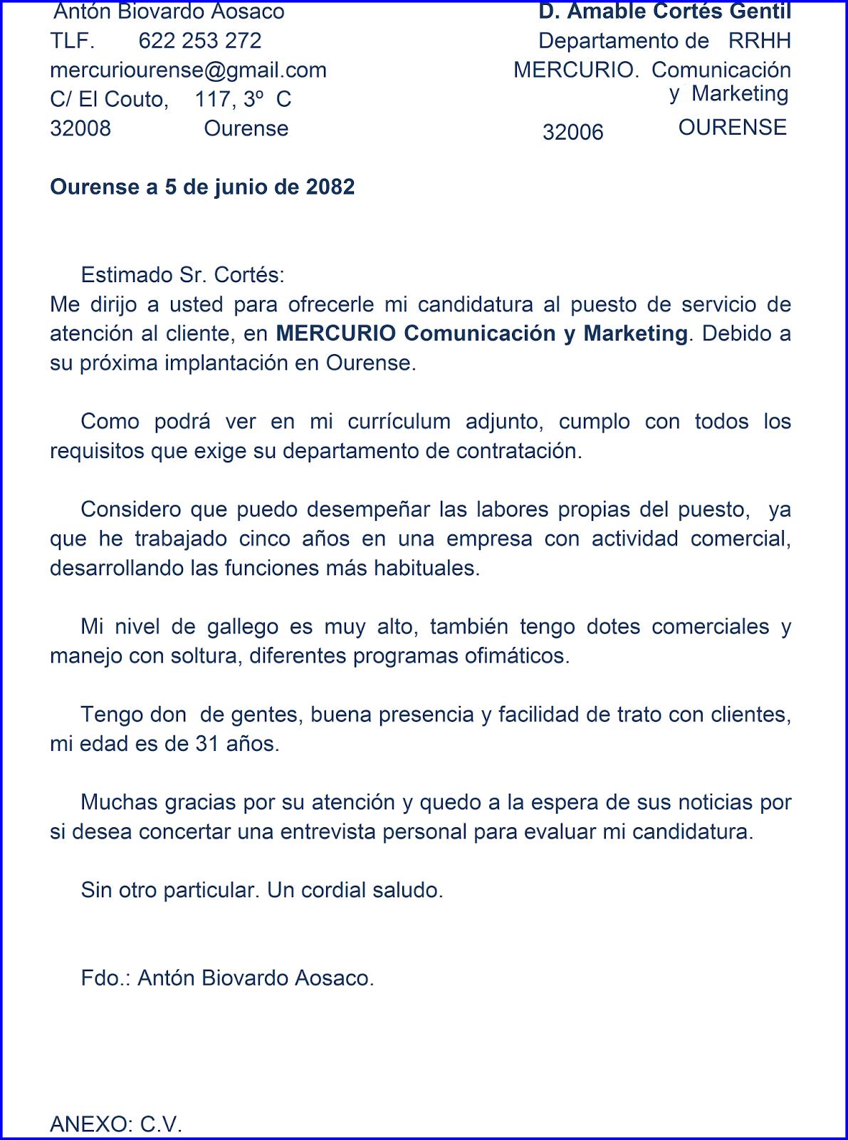 MERCURIO. Comunicación y Marketing: CARTA DE DEMANDA DE EMPLEO ...