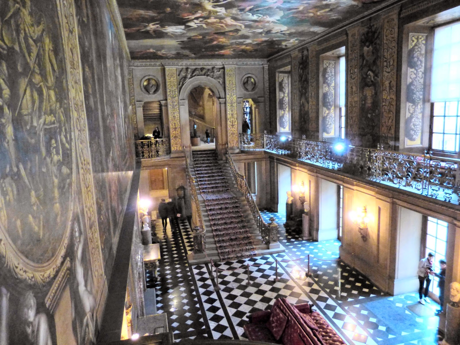 The Painted Hall, Chatsworth, from the balcony
