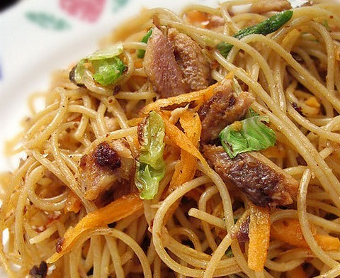 Spicy Spaghetti With Sardine And Carrots