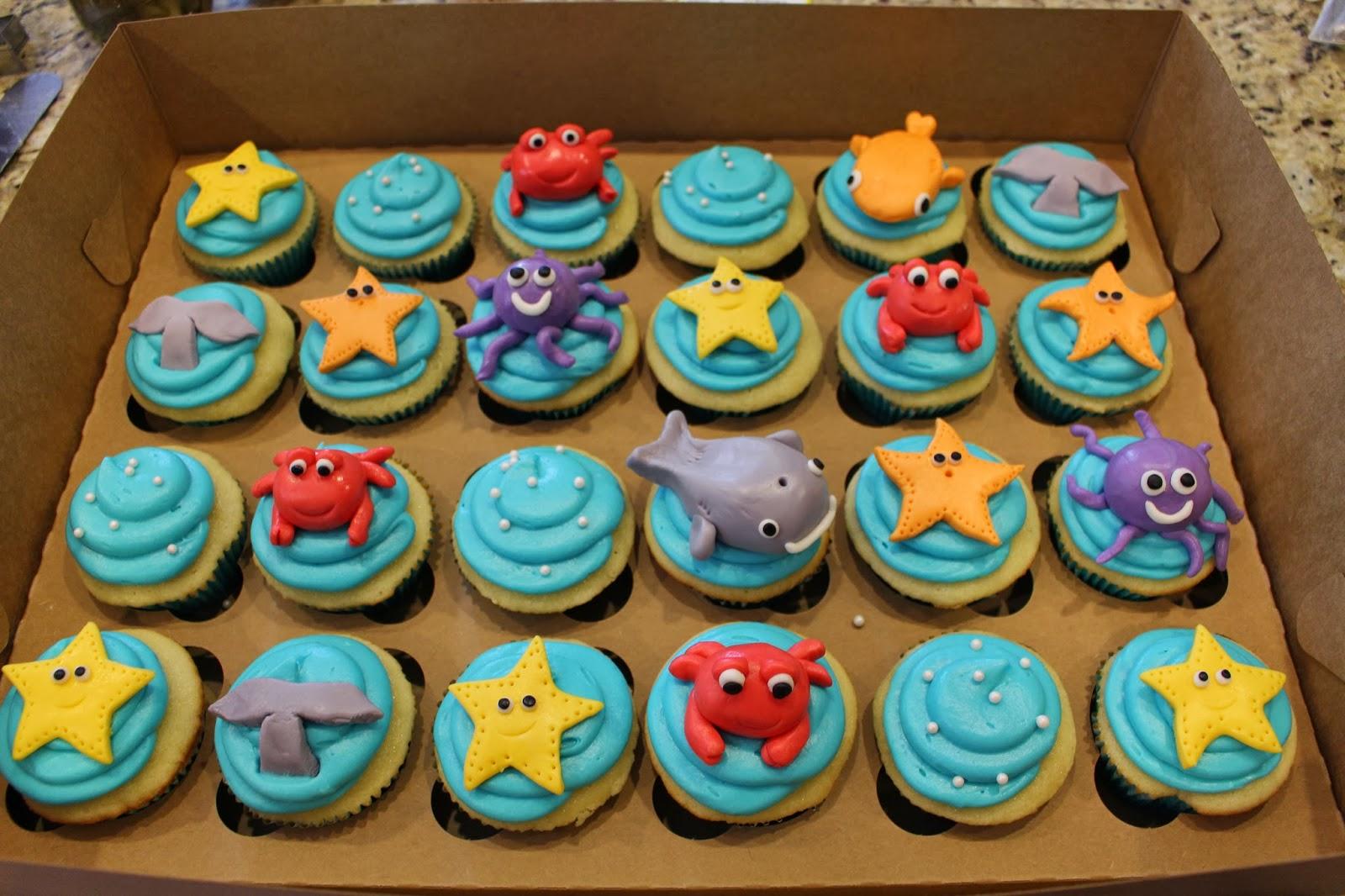Cupiddycakes Under The Sea Cupcakes For A Friends Ocean Themed