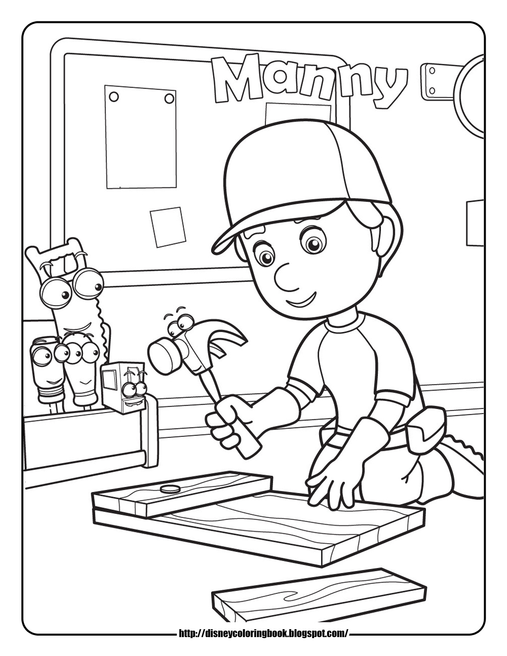 Free disney junior colouring pages - Handy Manny Coloring Pages Handy Manny Coloring Pages