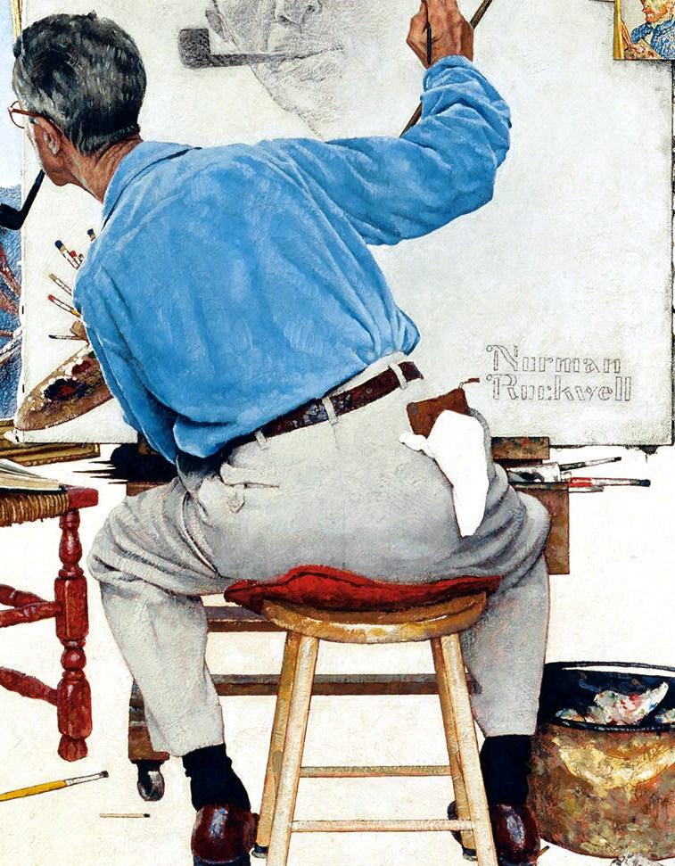 Histoire d arts rockwell triple autoportrait 1960 - Cote d un artiste peintre ...