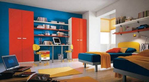 Boys Room Paint Ideas Blue Red