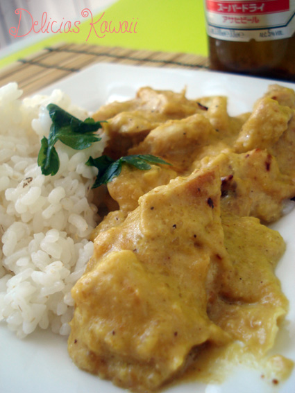 Delicias kawaii pollo al curry con arroz blanco - Arroz en blanco con pollo ...