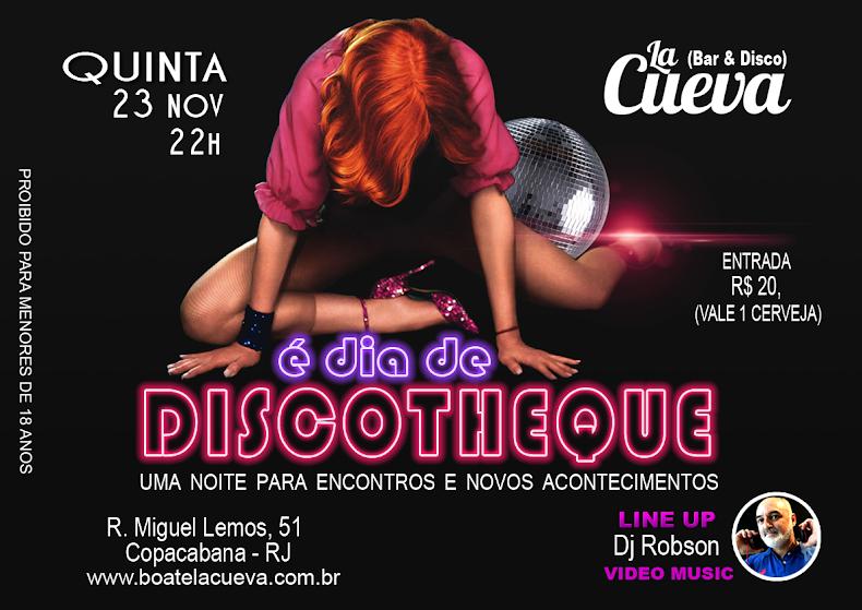 QUINTA FEIRA - 23/11 - 22H
