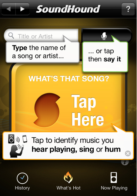 how to find the name of a song app