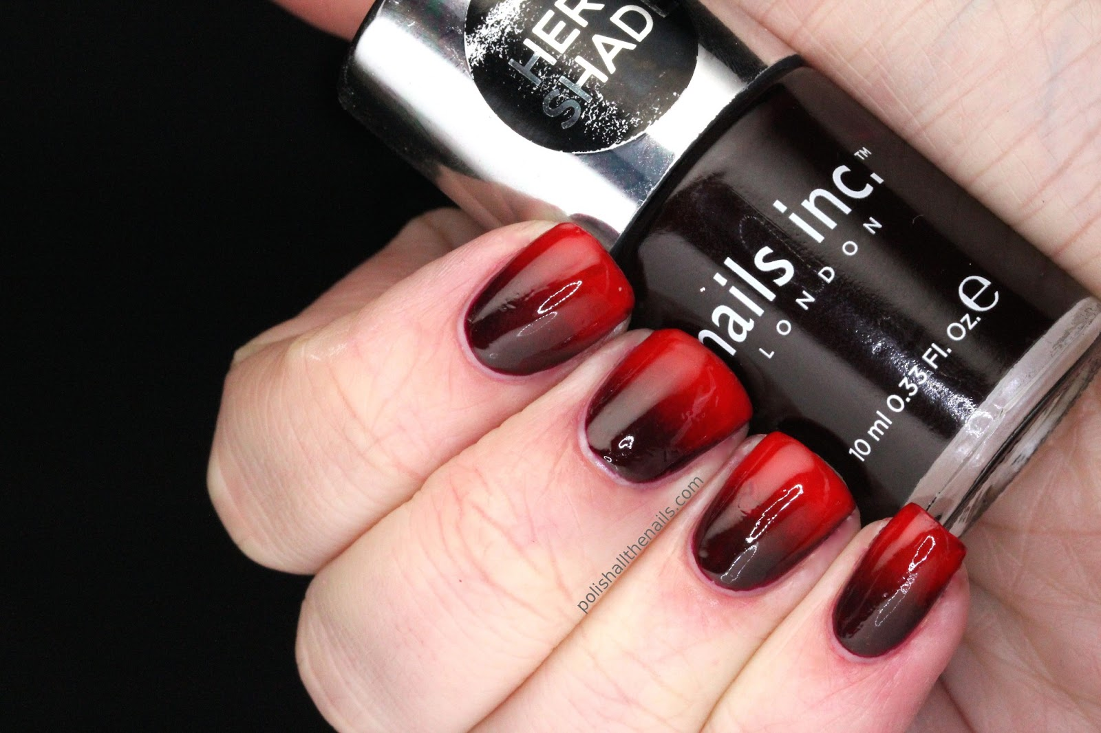 Nail Art: Vampy Red Gradient with Nails Inc Victoria