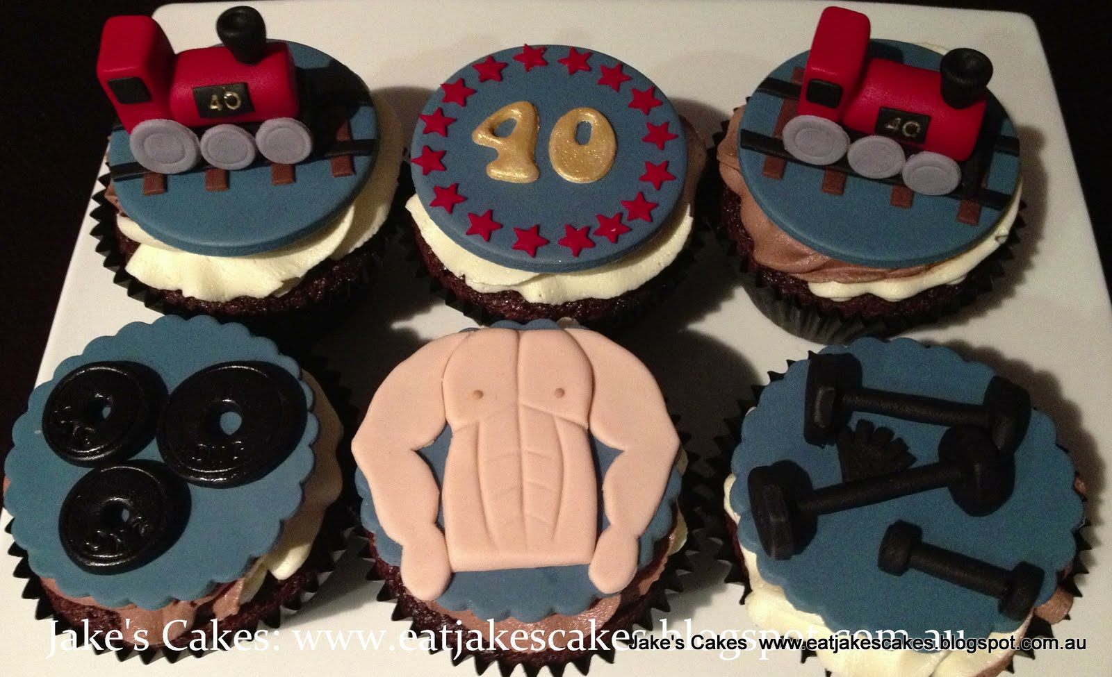Jake S Cakes Trains And Gym Training Cupcakes