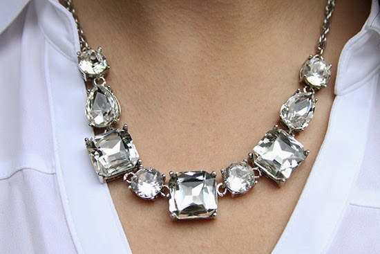 Express Glam Crystal Statement Necklace