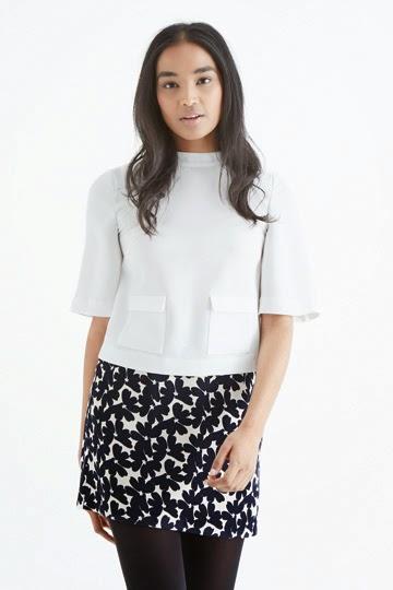 oasis white pocket top, oasis white blouse,