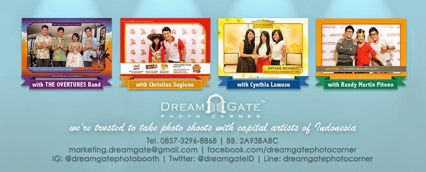 dreamgate photo corner photobooth surabaya jawa timur indonesia murah berkualitas untuk wedding birthday party gathering malang madura pasuruan probolinggo jember banyuwangi banner