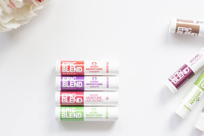 epic blend more moisture lip balm cherry grape unflavoured green apple review