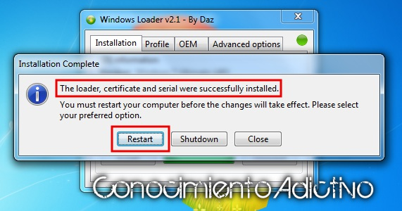 activar windows 7 ultimate con windows loader