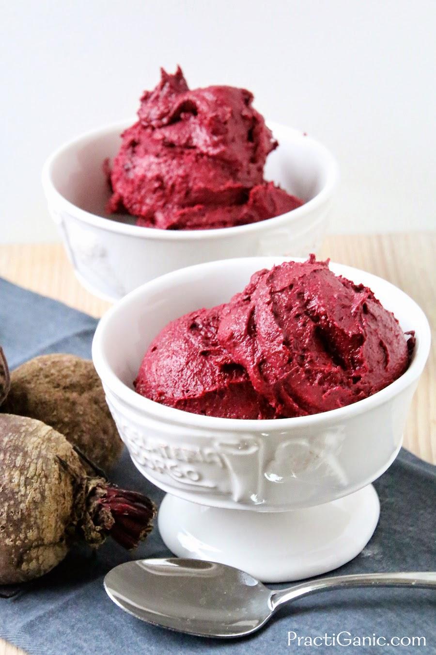 Raw Beet & Chocolate Ice Cream