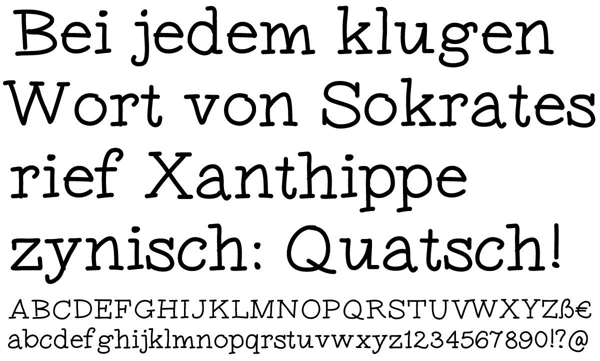 Inklusive vier kostenlosen fonts zum herunterladen