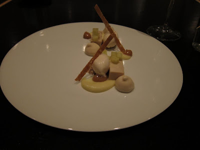Mace ice-cream and chestnut custard at Benu San Francisco