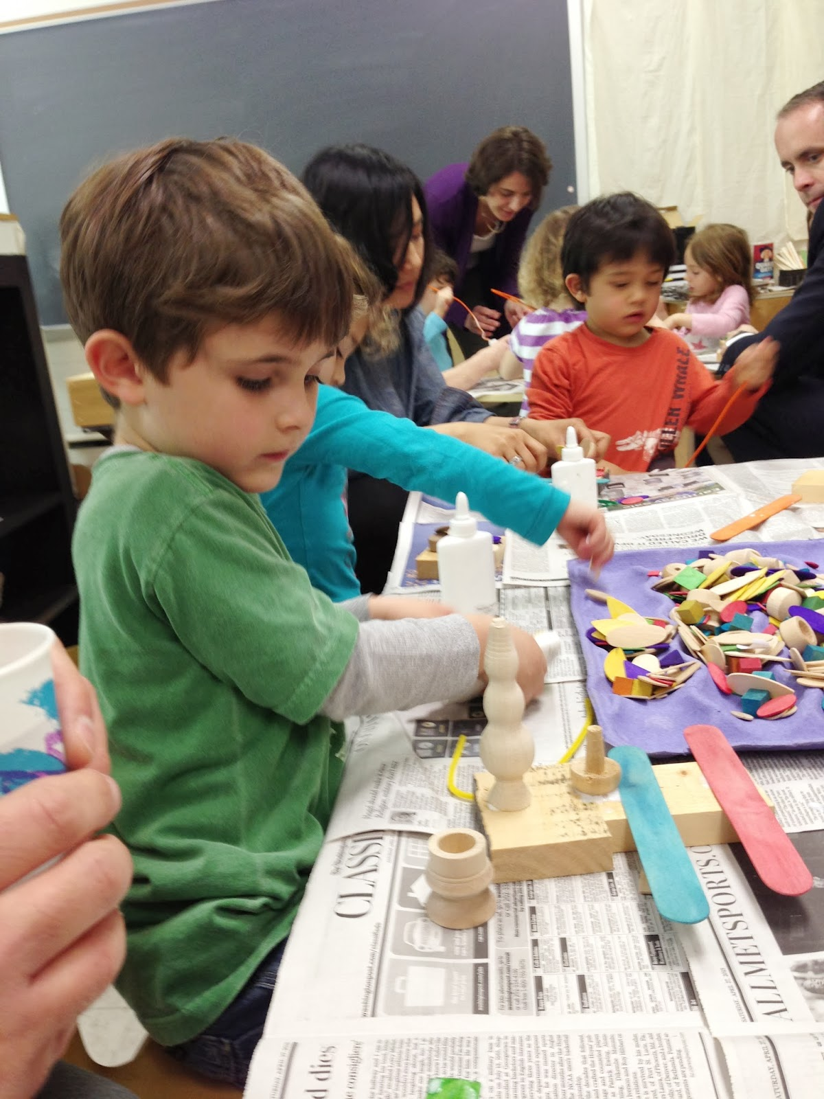 Art Project With Daddy Temple Sinai Nursery School
