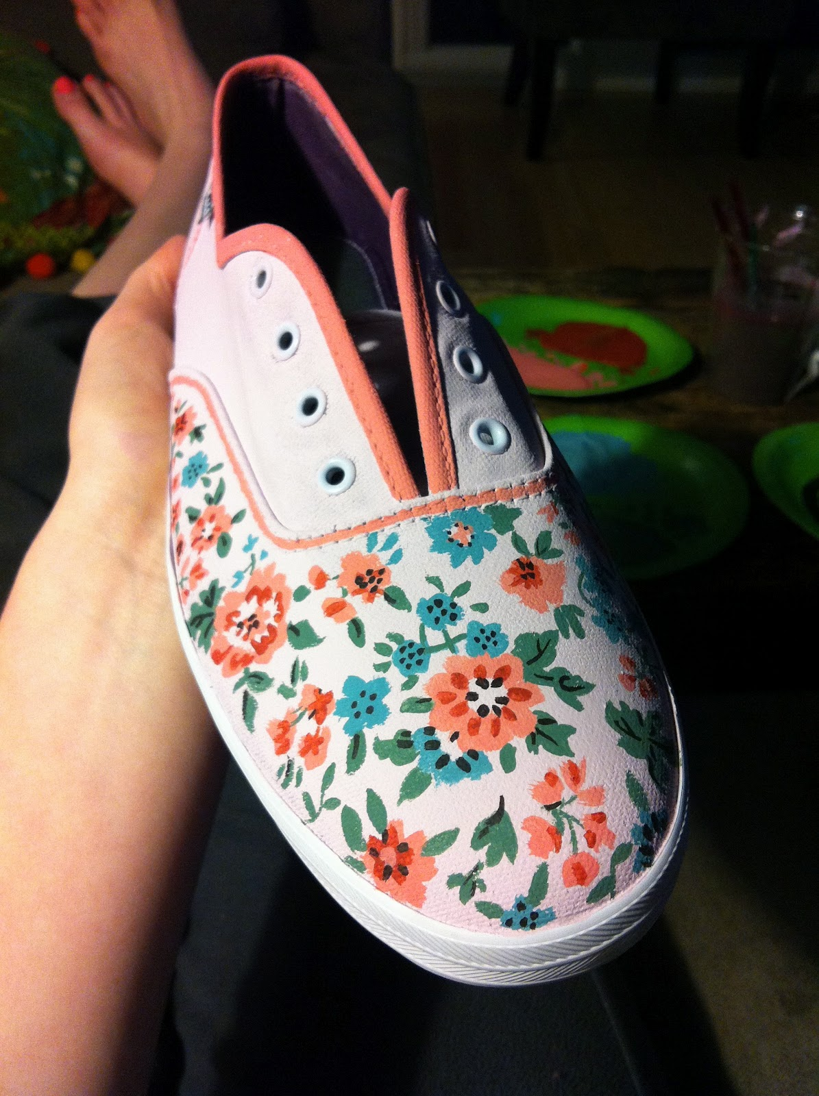 peace pliers diy painted shoes