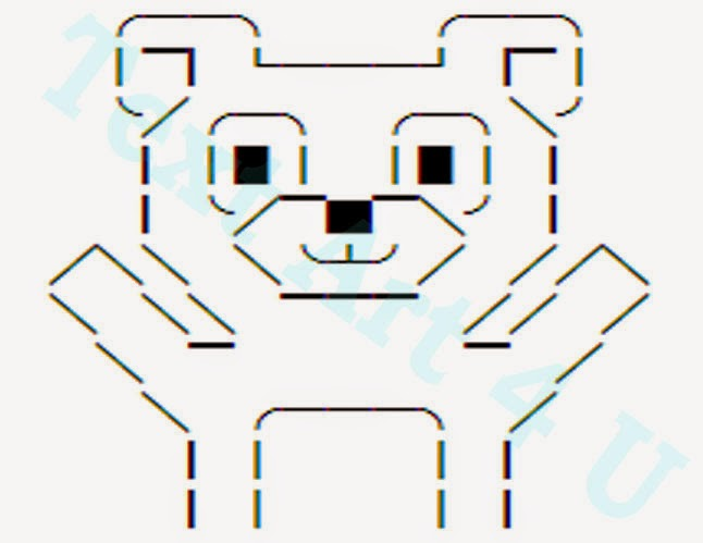 Cute Unicode Bear Hug Text Art For You Cool Ascii Text Art 4 U