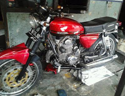 Honda CB 100 Modifikasi Bore UP 400 CC Double Starter