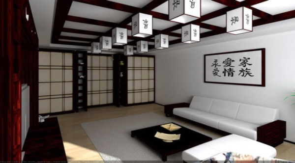 Best home design ceiling design ideas in japanese style for Living room japanese style
