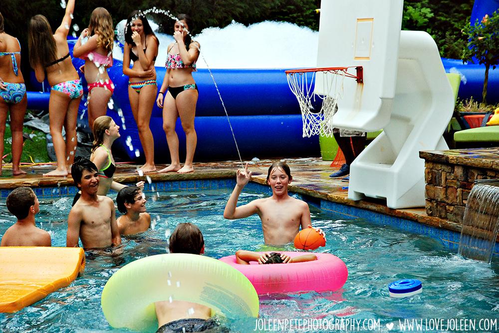 Teen swim parties