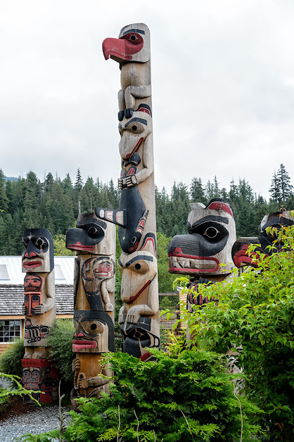 Totem Poles at Alaska Rainforest Sanctuary