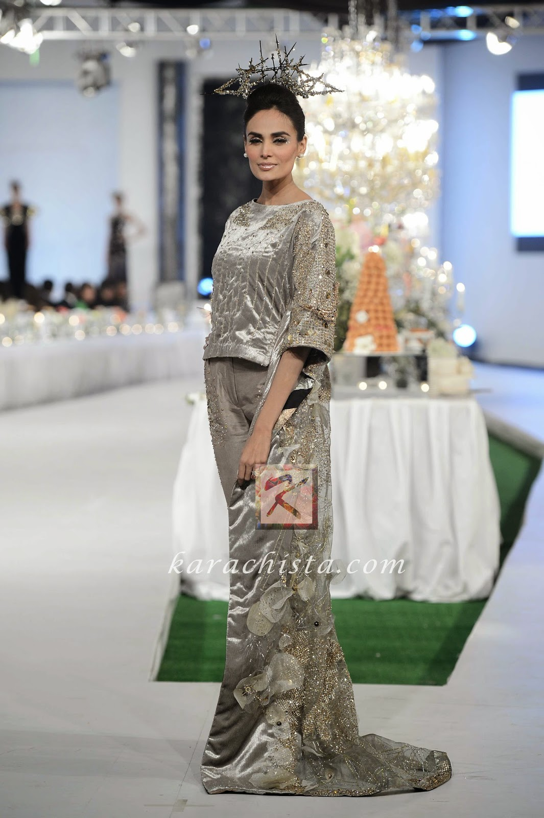 Mehreen Syed in KARMA Swarovski crystals ensemble