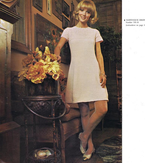 1960's KNITTED DRESS FREE PATTERN FROM GHOST IN TIME