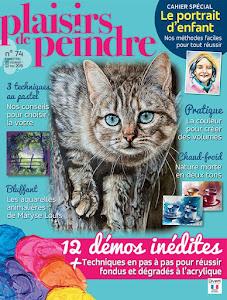 Ma dernière parution : Plaisirs de Peindre n°75 (mai/août 2019)