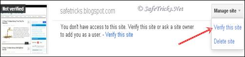 Verify the site
