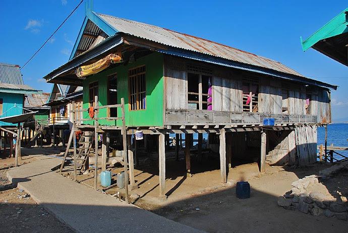 Casas del pueblo de Komodo