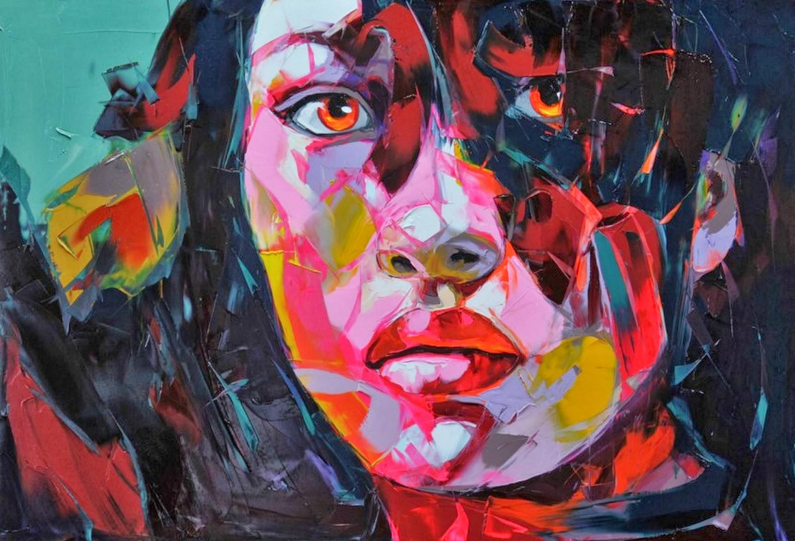 Cuadros modernos pinturas y dibujos pintura de retratos for Pintura acrilica moderna