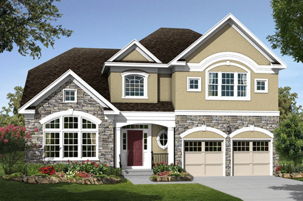 Modern big homes exterior designs new jersey for Modern house front design