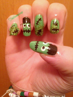 Frankenstein_nailart_halloween