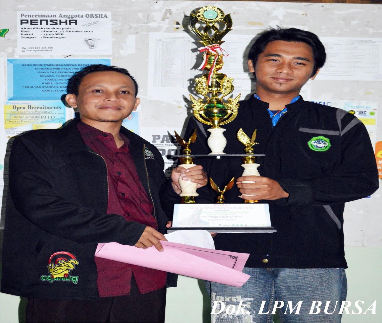 Lagi, Mahasiswa FSH membanggakan UNISNU Jepara, juara debat nasional, debat naisonal, unisnu