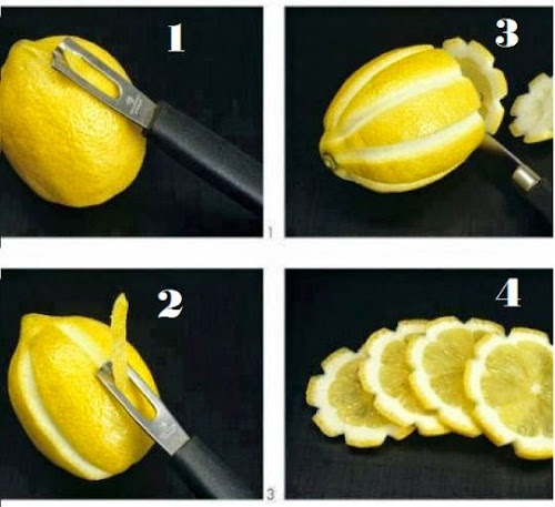reative food decoration ideas, Lemon carving arts