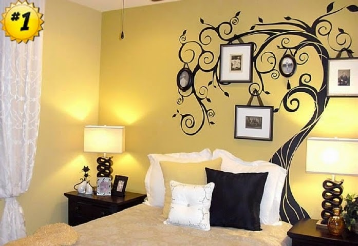 Paint ideas for bedrooms with accent wall for Wall art ideas for bedroom