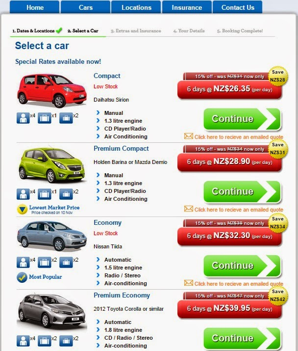 New Zealand Car Rental Promotion Code