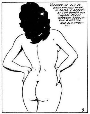 ilustração de mulher nua vista de costas