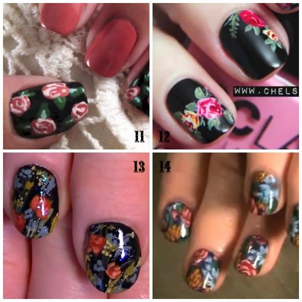 Nails Floral Nails Tutorials