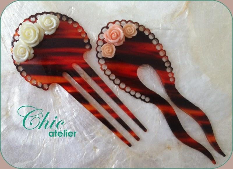 Peinecillos y complementos de moda flamenca hecho a mano